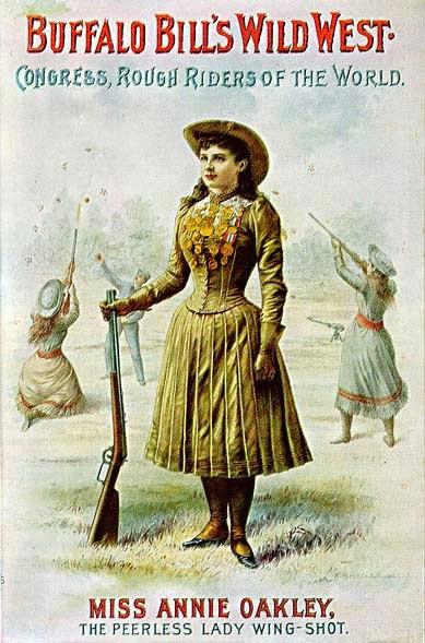 Annie Oakley en un cartel promocional