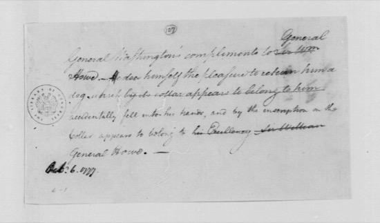 El día que George Washington devolvió un perro a su enemigo