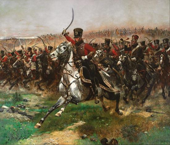Húsares franceses en la batalla de Friedland, 1807. Obra de Édouard Detaille