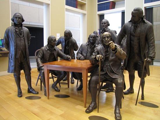 Benjamin Franklin en el National Constitution Center de Philadelphia