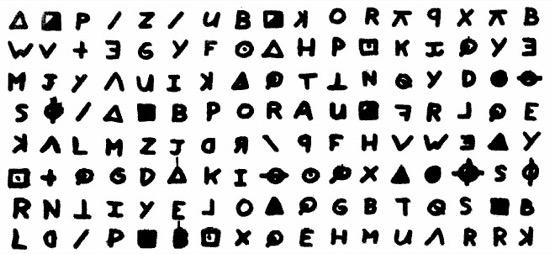 Mensaje cifrado del Asesino del Zodiaco