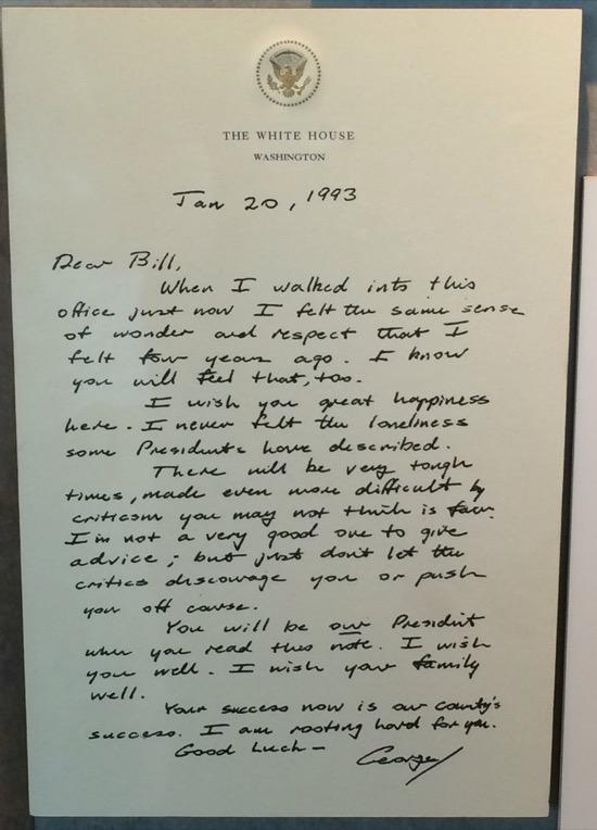 Las notas que se dejaron los presidentes de EEUU