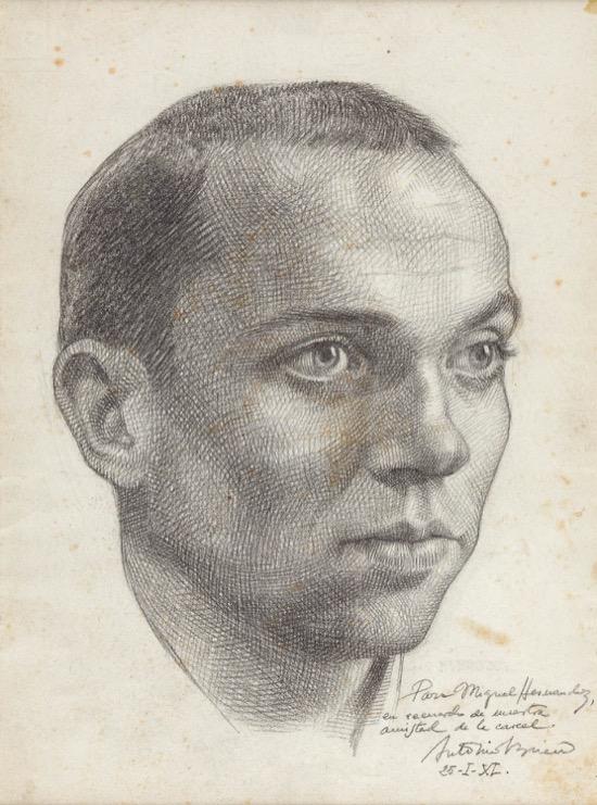 El famoso retrato de Miguel Hernández hecho por Buero Vallejo