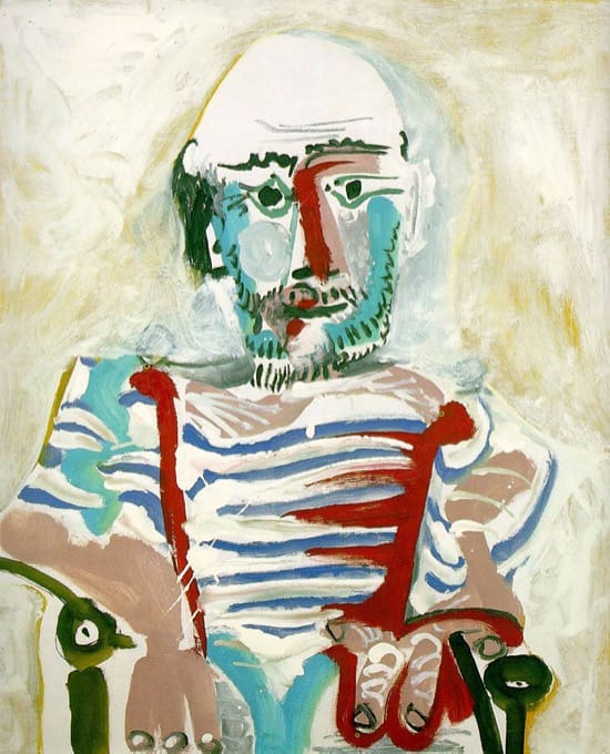 Autorretrato de Picasso en 1965, con 83 años