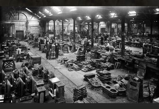 La fábrica de estufas del familisterio, en torno a 1899