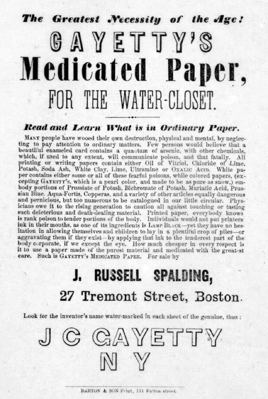 Quién inventó el papel higiénico
