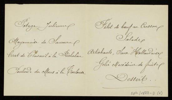 El duque de Brunswick y el origen del menú en los banquetes y comilonas