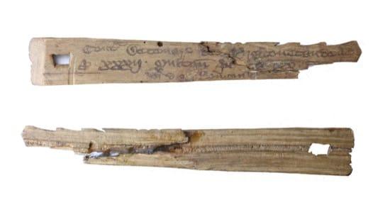 Los palos tallados que registraban deudas e incendiaron el palacio de Westminster