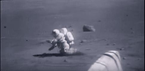 Caídas de astronautas en la Luna, imágenes cómicas pero científicas