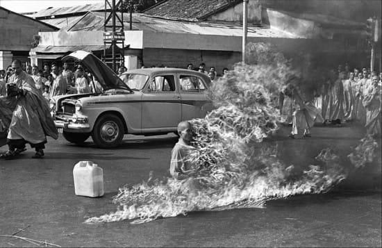 Quemarse a lo bonzo, el suicidio del monje budista