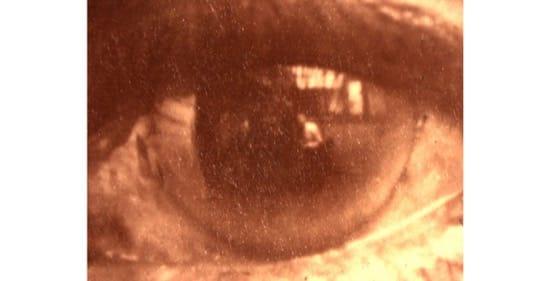 Foto del ojo del guerrero apache Jerónimo, en 1904. Foto de Gerhard Sisters