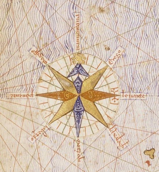Rosa de los vientos del Atlas catalán