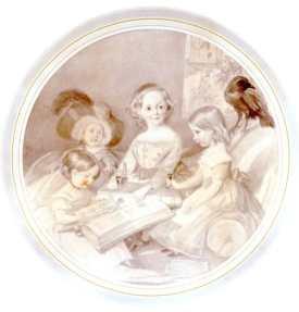Los hijos de Dickens, con Grip, el cuervo (Daniel Maclise. 1841)