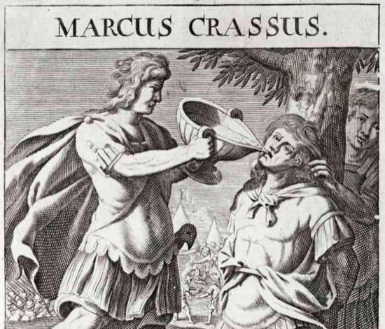 La muerte de Craso, una lección contra la avaricia