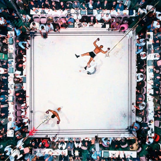 Neil Leifer foto cenital de Ali contra Williams