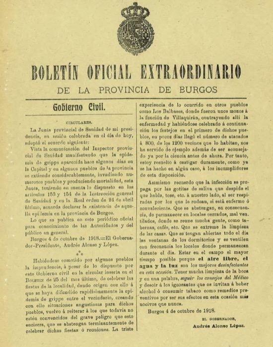 Cómo se luchó contra la gripe española - Burgos
