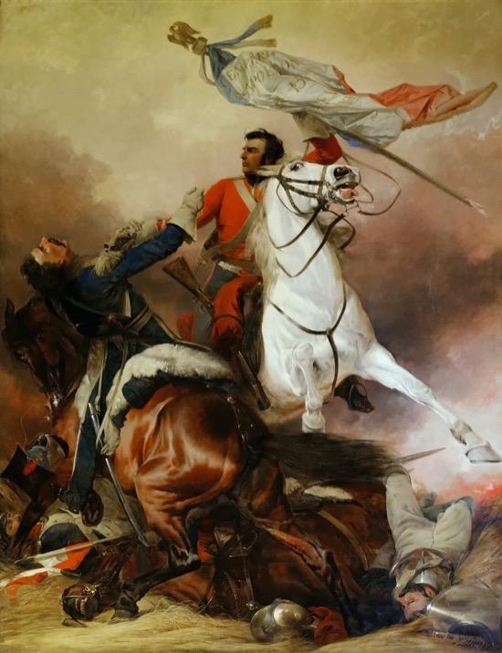 La lucha por la bandera, de Richard Ansdell (1847)