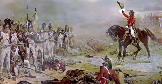 Lord Hill invitando a rendirse a los últimos remanentes de la Guardia Imperial francesa, de Robert Alexander Hillingford