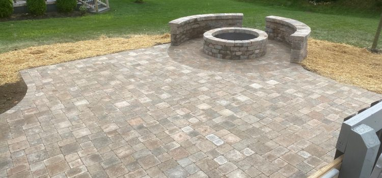 Hessit Works Lakeshore Patio and Fire Pit (by Eisele Masonry)