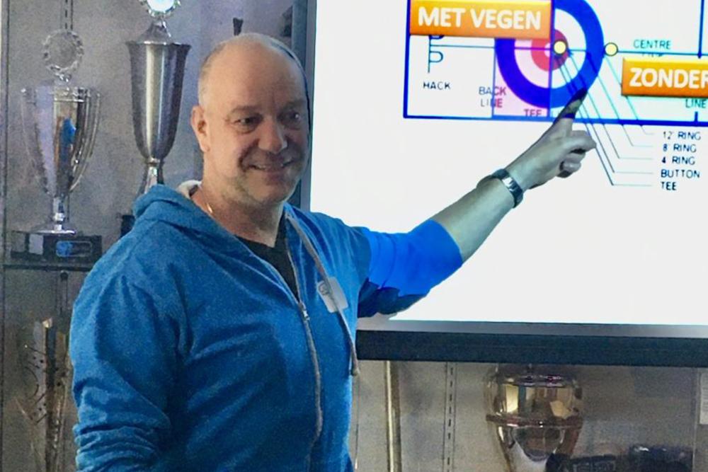 Michael Rainger instructeur Curlingbaan Zoetermeer