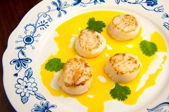 Coquille met wortel en botersaus