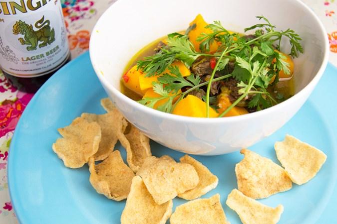 Curry met pompoen