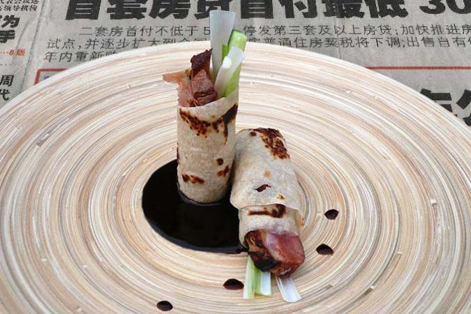 Pannenkoeken met Pekingeend