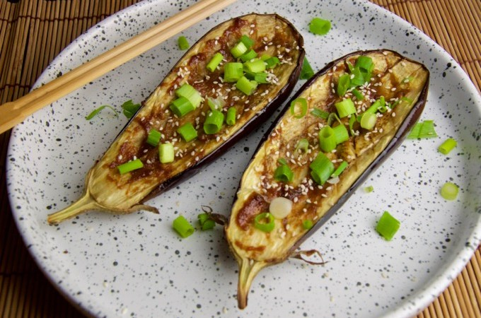 Recept Aubergines in miso marinade