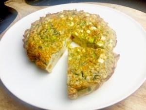 Recept Koolhydraatarme hartige taart met pompoen