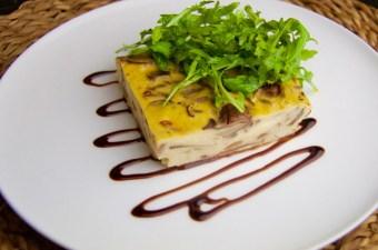 Recept Koolhydraatarme hartige taart met champignons en rookkaas