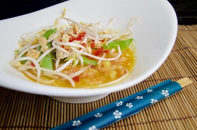 Recept Laksa met garnalen