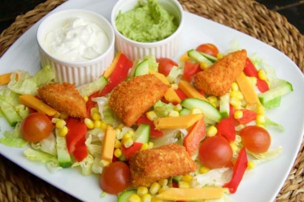 Voorkeur Recept Mexicaanse krokante kip salade | Foodblog CurlsCulinair &PW01