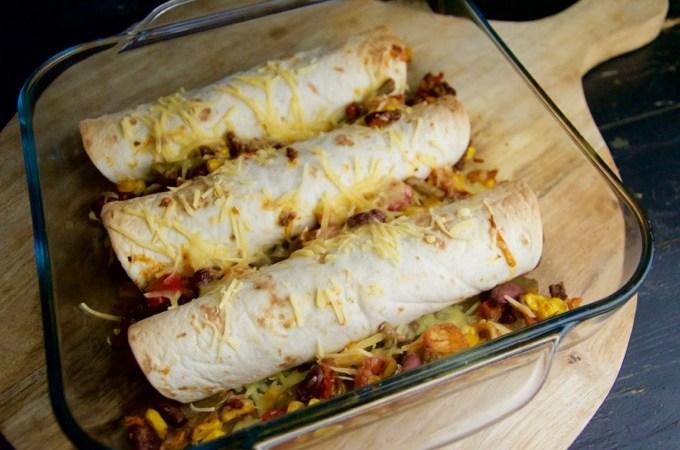Recept Mexicaanse wraps met gehakt en groenten uit de oven