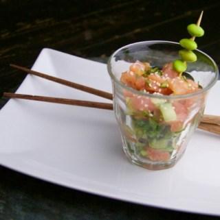 Recept Oosterde zalmtartaar met komkommer