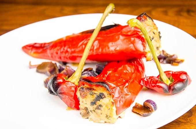 Recept Paprika gevuld met kipgehakt