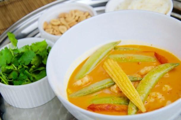 Recept Rode curry met garnaal