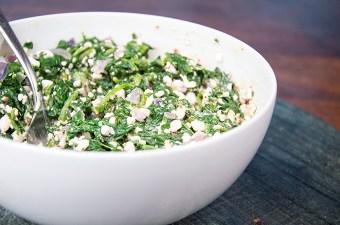 Recept Spinazie met Huttenkase