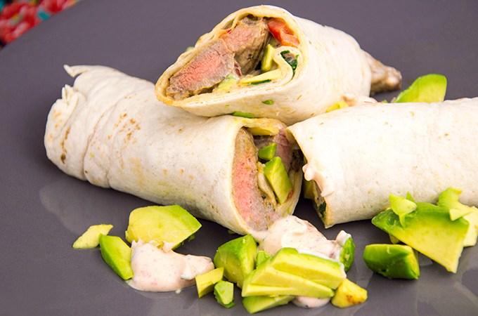 Recept entrecote in wrap met yoghurtsaus