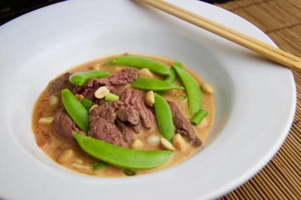 Recept rode curry met biefstuk