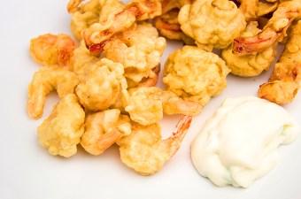 Recept tempura van garnaal, champignon en paprika