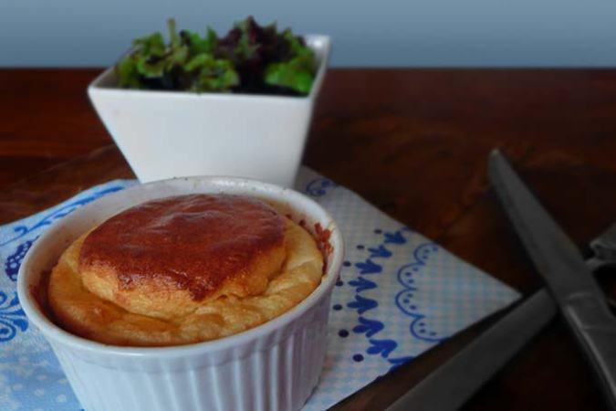 Souffle met oude kaas
