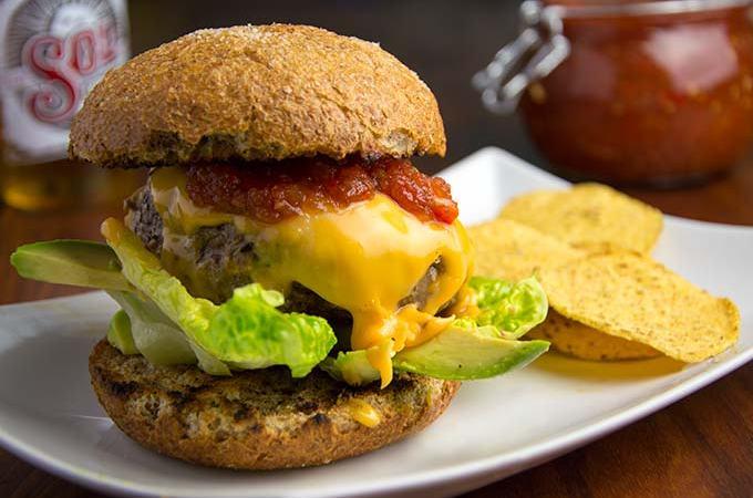 Tex-mex burger