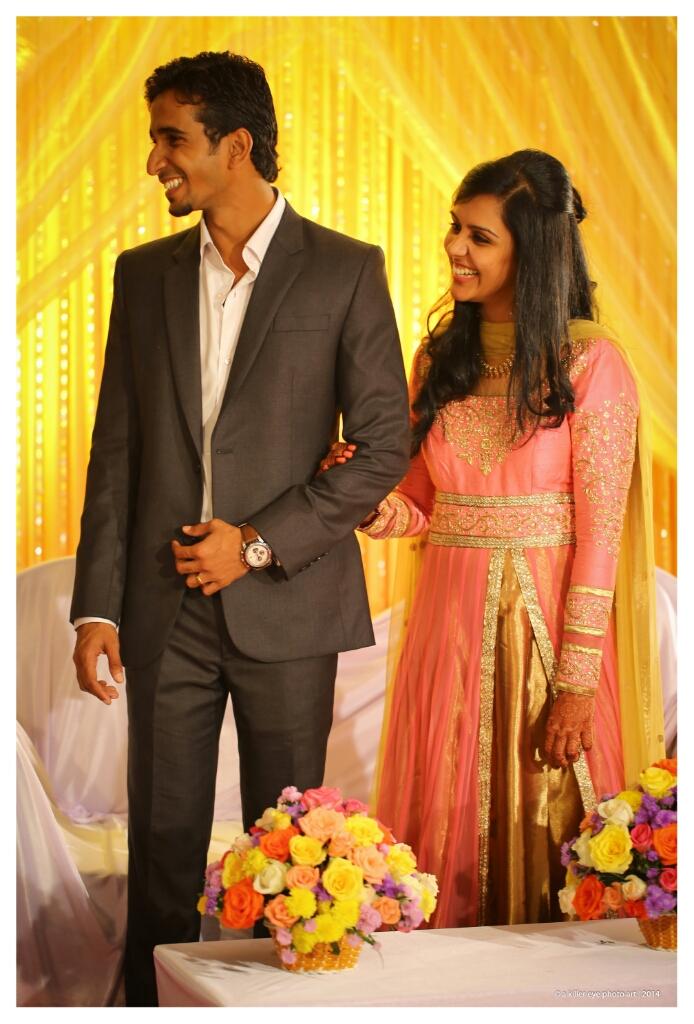Kerala Hindu Wedding Reception Dress For Bride And Groom