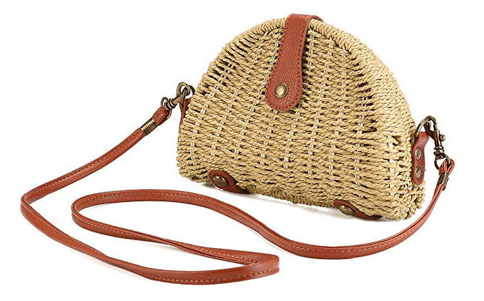 Crossbody Straw Bag