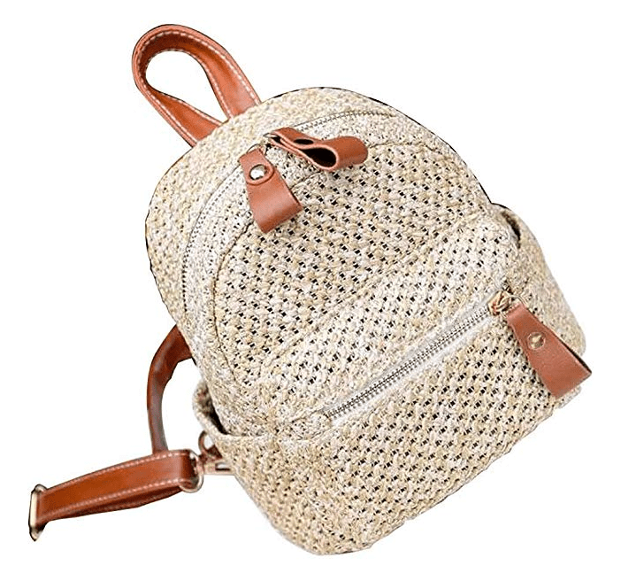 Straw Backpack for Travel
