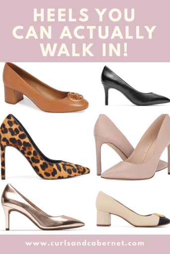 most comfortable high heels, heels you can actually walk in, best walkable high heels, prettiest comfy pumps