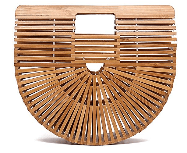 Women Bamboo Handbag Handmade Large Tote Bag