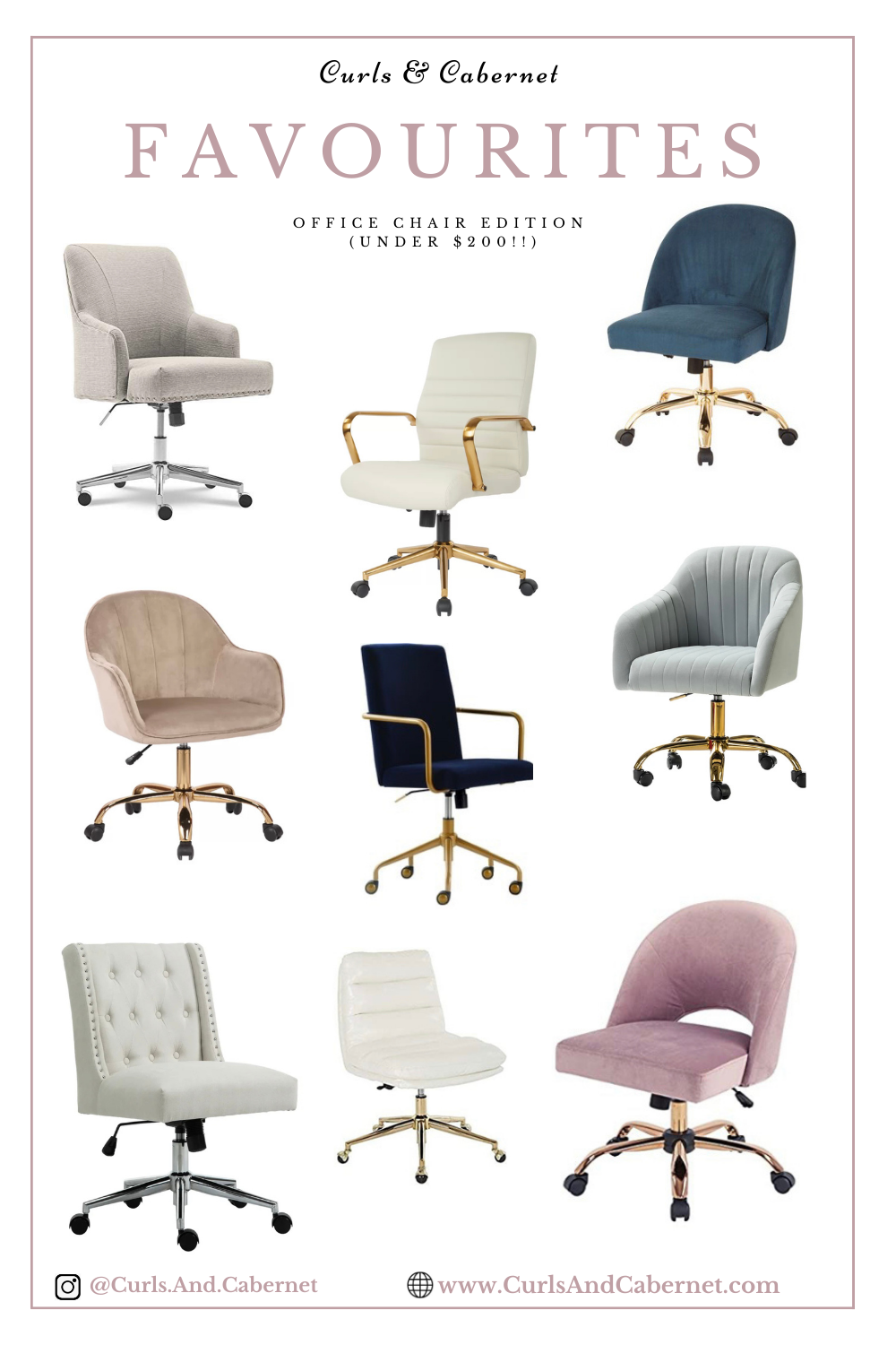 Favourite: Affordable Chic & Beautiful Office Chairs!