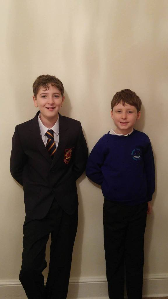 back to school, Kieran and Taylor