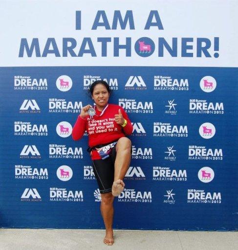 barefoot marathoner dianne salonga